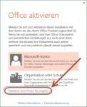 Microsoft Office 2013 nicht über ein Online-Konto aktivieren