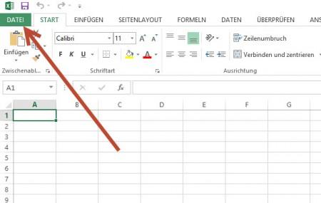Microsoft Excel 2013 - Deaktivieren von SkyDrive Cloud