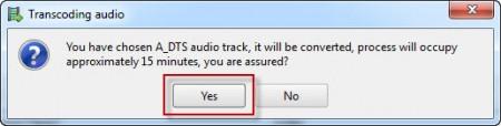 DTS-Tonspuren müssen von PS3Muxer in Dolby-Digital umgewandelt werden