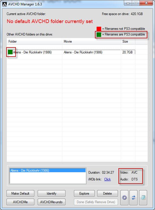 MKV mit DTS / DTS HD auf PS3 abspielen (Bild 4)